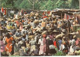 HAITI  Kenscoff The Friday Market Acec Timbre - Cartes Postales
