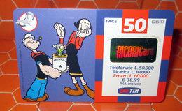 TIM £ 50.000  POPEYE  2002 SCHEDA GSM TELEFONICA PREPAGATA  USED - Italia