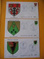 FDC  Gabon   1971   Armoiries  Mouila  - Sitam  -  Oyem - Enveloppes