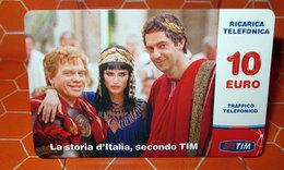 TIM € 10.00  LA STORIA D'ITALIA  2013 SCHEDA GSM TELEFONICA PREPAGATA  USED - Italia