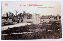 CPA 51 Taissy La Ferme Vers Sillery Le Front En Champagne Guerre 1914 1918 WWI écrite De Cormontreuil - Guerre 1914-18
