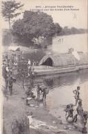 French Equatorial Africa Laveuses sur les bords d'un fleuve