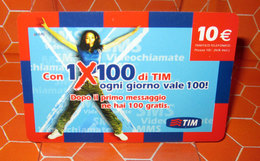 TIM € 10.00  1X100  2009 SCHEDA GSM TELEFONICA PREPAGATA  USED - Italia