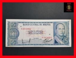 BOLIVIA 5 Pesos Bolivianos L. 1962 P. 153 XF \ AU - Bolivia