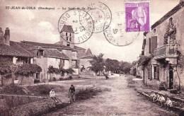 24 - Dordogne -  SAINT JEAN DE COLE  -  Le Fond De La Place - RARE - France