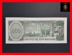 BOLIVIA 5 Centavos Boliviano / 50.000 Pesos Bolivianos 1987 Overprint  P. 196  UNC - Bolivia