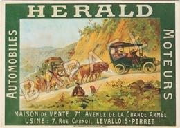 Publicité Sur Carte Postale - Automobiles Herald Moteurs - Publicité