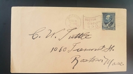 O) 1882 UNITED STATES - USA, JAMES A. GARFIELD SCOTT 205 5c, BOSTON CIRCUIT R.P.O. MASS, XF - Covers & Documents