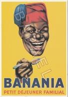 Publicité Sur Carte Postale - Banania Petit Déjeuner Familial - Publicidad