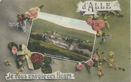D' ALLE (Sur Semois) Je Vous Envoie Ces Fleurs - TRES RARE CPA - Cachet De La Poste 1911 - Vresse-sur-Semois