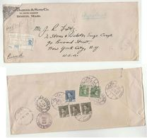 1939 Registered IRAQ  Stamps COVER To USA  Airmail - Iraq
