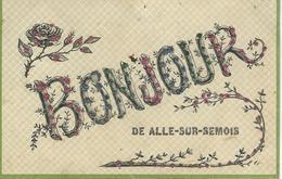 Bonjour De HALLE-SUR-SEMOIS - TRES RARE CPA - Cachet De La Poste 1908 - Vresse-sur-Semois