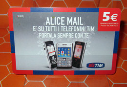 TIM € 5.00  ALICE MAIL  2009 SCHEDA GSM TELEFONICA PREPAGATA  USED - Italia