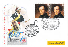 Germany Cover Philakorea 2009 Stampexhibition Seoul 30-7-2009 With Nice Cachet - Expositions Philatéliques