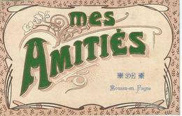 Mes Amitiés De BOUSSU-EN-FAGNE- TRES RARE CPA - Cachet De La Poste 1909 - Couvin