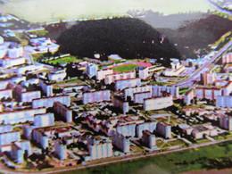Ukraine.2 PCs Varash (Kuznetsovsk) Panorama Of Whole City With Isotope Stadium And Nuclear Power Plant Aerial - Stadien