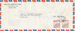 Korea South Air Mail Cover Sent To USA - Corée Du Sud
