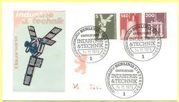 GERMANIA - GERMANY - Deutschland - ALLEMAGNE - Berlin - 1975 - 5 + 140 + 200 Industrie Und Technik - FDC - Berlin - [5] Berlino