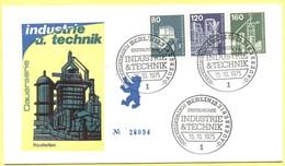 GERMANIA - GERMANY - Deutschland - ALLEMAGNE - Berlin - 1975 - 80 + 120 + 160 Industrie Und Technik - FDC - Berlin - [5] Berlín