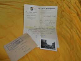 ENVELOPPE + LETTRE + PHOTO ANCIENNE DE 1941. / EPREUVE CYCLISTE PARIS LIMOGES. / U.V.F. UNION VELOCIPEDIQUE LIMOUSINE. C - Old Paper