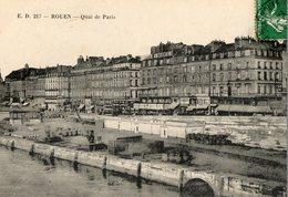 76. CPA. ROUEN. Batiments De La Cie Générale De Navigation H.P.L.M. Service De Reims. 1912. - Houseboats
