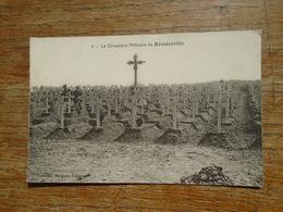 Réméréville , Le Cimetière Militaire De Réméréville - Andere Gemeenten