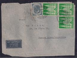 Deustchland - 1952 -  Vorderseite Des Briefes -  Brief - Nach Argentinien Geschickt - BRD