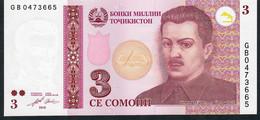 TAJIKISTAN  P20  3 SOMONI    2010   UNC. - Tadjikistan