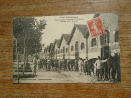 """Toul , Casernes Du 19e Régiment D'artillerie , écuries Du 1er Groupe """""""" Carte Animée Soldats Avec Leurs Chevaux - Toul"""