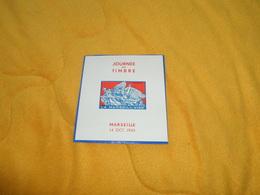 BLOC JOURNEE DU TIMBRE LA MARSEILLAISE. / MARSEILLE 14 OCT. 1945. DRAIM.. - Commemorative Labels