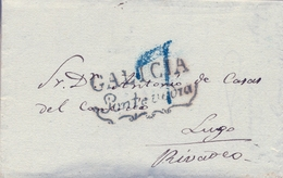 PREFILATELIA , 1839  , CARTA COMPLETA  , PONTEVEDRA - RIBADEO  , T. 13 - ...-1850 Voorfilatelie