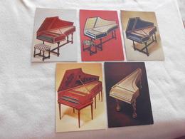 LOT DE 5 CARTES CLAVECINS ..ITALIEN..FRANCAIS(3) ET FLAMAND ...WILLIAM DOWD ..PARIS - Postcards