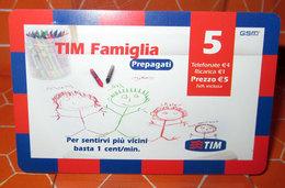 TIM € 5.00  TIM FAMIGLIA  2008 SCHEDA GSM TELEFONICA PREPAGATA  USED - Italia