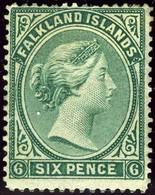 Falkland Islands. SG #3. Unused. Irregular Perfs. - Falkland Islands