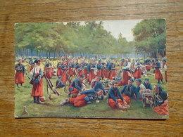 """En Guerre Zouaves à La Grand'halte """""""" Carte Animée Zouaves """""""" Carte écrite Par Un Poilu Le 3 Mai 1915 - Guerre 1914-18"""