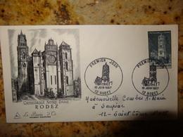 1er Jour Rodez Aveyron Cathedrale Notre Dame1er Jour 1967 - FDC