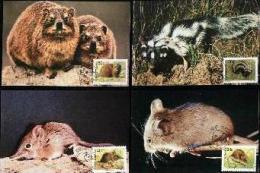 BOPUTHATSWANA, 1990, Wild Animals,  Mint Maxicards, Nr(s.) 77-80 - Bophuthatswana