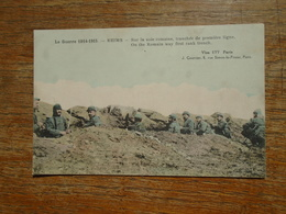 Reims , Guerre 1914-15 , Sur La Voie Romaine Tranchée De Première Ligne Carte Animée Soldats  Carte écrite Par Un Poilu - Reims