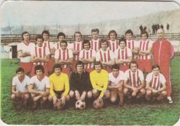 CALENDARS - ROMANIA  1978 - Football Team From The City Of Turda (7 X 10 Cm) -2 Scans - Calendars