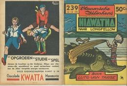 Vlaamsche Filmkens Nr 239 Hiawatha Naar Longfellow (indiaan) Door Lutg. Van Tarse ( Averbode's Jeugdbibliotheek ) - Livres, BD, Revues