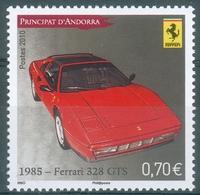 Andorra (French Adm.), Car, Ferrari 328 GTS, 2010, MNH VF - Andorre Français