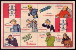 Postal Publicitario BAYER Remedio Comprimidos LITO NACIONAL Porto. Old Advertising Card Medical PORTUGAL - Portugal