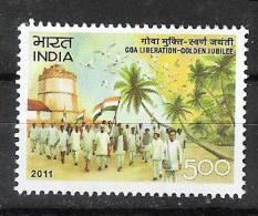 INDIA, 2011, Goa Liberation, Golden Anniversary,  MNH, (**) - Nuevos