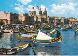 Postcard Malta Fishing Village Marsaxlokk My Ref  B22972 - Malta
