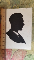 Man's Head - Moscow - OLD Card  - Silhouette - Scissor Type 1949 - Silhouette - Scissor-type