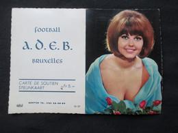 CALENDRIER 1969 (M1814) FOOTBALL A.D.E.B. Bruxelles (2 Vues) Jolie Femme - Calendars