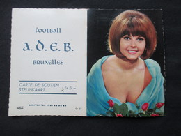 CALENDRIER 1969 (M1814) FOOTBALL A.D.E.B. Bruxelles (2 Vues) Jolie Femme - Calendriers