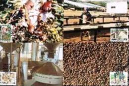 VENDA, 1988, Coffee Industry,  Mint Maxicards, Nr(s.) 58-61 - Venda