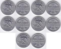 Germany - 5 Pcs X 50 Pfennig 1922 - D UNC Lemberg-Zp - [ 3] 1918-1933 : Weimar Republic