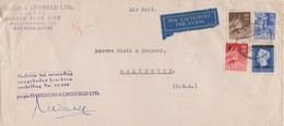 20c Wilhelmina, 60s And 80s Menangkabau House At Sumatra And 25s Tjandi Puntadewa Temple Entrance 1949 Batavia Air... - Niederländisch-Indien
